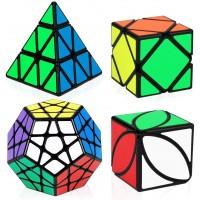 Speed Cube Bundle Aitbay Magic Cube Set Megaminx Pyramid Skewb Ivy Sticker Speedcubing Smooth