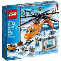 Lego City Arctic Helicrane 60034 Building Toy Discontinued By