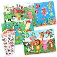 Puzzles Age 38 Wooden Animal Puzzles Jigsaw Preschool Educational Learning Toy For Toddler 60