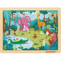 Top Bright 24 Piece Toddler Puzzles 3 Wooden Jigsaw Puzzles Ages 48 Forest