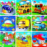 Vigeiya Wooden Jigsaw Floor Puzzles Ages 48 Vehicle Stem Learning Educational
