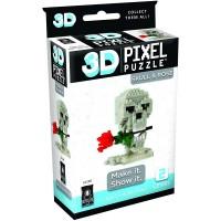 3D Pixel Puzzle Skull Rose 230