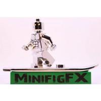 Lego Silver Surfer Chrome Plated Minifig Marvel Super Hero Fantastic