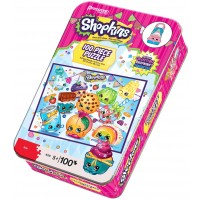 Pressman Toys Shopkins Puzzle Tin With Collectible 100