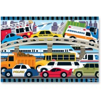 Melissa Doug Traffic Jam Floor Puzzle 24 Pcs 2 x 3 Feet