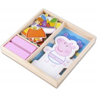 Peppa Pig Magnetic Wood Dress Up Puzzle 25