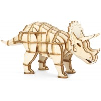 Triceratops 3D Wooden