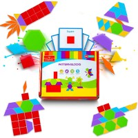 Pattern Blocks Bigger Fun Shapes Tangrams Preschool Creative Learning Toy For Boys Girls