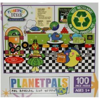 Planetpals Eat Healthy Live Green Diner Recycled Puzzle 100