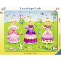 Ravensburger 3 Pretty Princesses My First Frame 15 Piece Puzzle Jigsaw Puzzle Every Piece Is Unique