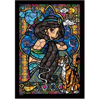 266Piece Jigsaw Puzzle Stained Art Aladdin Jasmine Stainedglass Windows Tightly Series