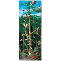 Melissa Doug Rainforest Floor Puzzle Easyclean Surface Promotes Handeye Coordination 100 Pieces 48