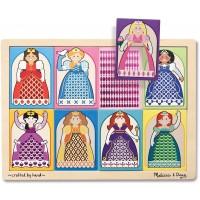 Melissa Doug Princesses Peekthrough Pattern Wooden Puzzle 8