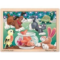 Melissa Doug Pets Wooden Jigsaw Puzzle With Storage Tray 12