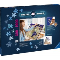 Ravensburger 17973 Tabletop Fold Flat Wooden Puzzle Easel Nonslip Felt Work Surface Puzzle Table