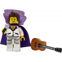 Lego King Of Rock And Roll With Guitar And Microphone Toy Custom Singer Musician