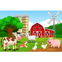Farm Animals 35 Piece Childrens Jigsaw Puzzle 12 X