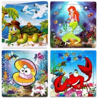 Wooden Jigsaw Puzzles Age 25 Animals Preschool Puzzles For Toddler Children Learning Educational