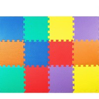 Costzon Puzzle Exercise Mat 12Pieces 24 Eva Foam With Interlocking Tiles Safe And Nontoxic Colorful