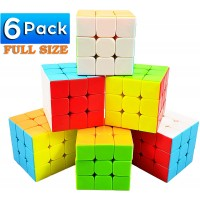 Full Size 33 Cube Set Puzzle Party Toy Stickerless Antipop Magic Speed Cube 3X3X3 Easy Turning And