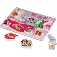 Melissa Doug Disney Minnie Mouse And Friends Wooden Chunky Puzzle 8