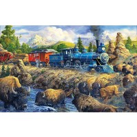 Delaying The Iron Horse 550 Piece Jigsaw Puzzle By