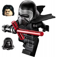 Lego Star Wars Minifigure Kylo Ren Complete With Helmet Hood Hair Fleshblack Face With Cross