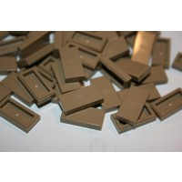 Lego Building Accessories 1 X 2 Dark Tan Tile Bulk 100 Pieces Per