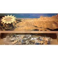 3 Foot Panaramic Puzzle Death Valley Zabriskie Point 500 Pieces 12 X 36 By