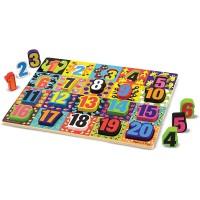 Melissa Doug Jumbo Numbers Wooden Chunky Puzzle 20