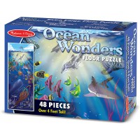 Melissa Doug Ocean Wonders Jumbo Jigsaw Floor Puzzle 48 Pcs Over 4 Feet