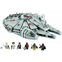 Lego Star Wars Millennium Falcon W Darth Vader Luke Skywalker Han Solo