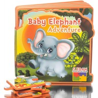 First Puzzles For Toddlers Baby Elephant Adventure Toy Book Learning Activity Books For Toddlers