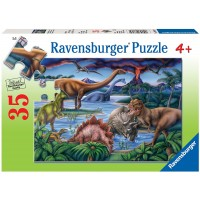 Ravensburger Dinosaur Playground 35 Piece Jigsaw Puzzle Every Piece Is Unique Pieces Fit Together