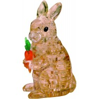 Bepuzzled Original 3D Crystal Jigsaw Puzzle Rabbit With Carrot Animal Assembly Brain Teaser Fun