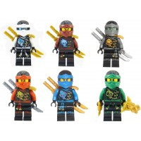 Lego Ninjago Ninjas Set Of 6 Lloyd Nya Zane Cole Jay Kai Skybound