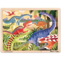 Melissa Doug Dinosaurs Wooden Jigsaw Puzzle With Storage Tray 24