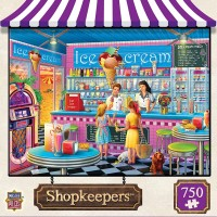 Masterpieces Shopkeepers Jigsaw Puzzle Annas Ice Cream Parlor Featuring Art By Eduard 750