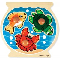 Melissa Doug Fish Bowl Jumbo Knob Wooden