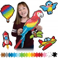 Fat Brain Toys Jixelz 1500 Pc Set Up In The Air Arts Crafts For Ages 6 To