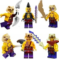Lego Ninjago Set Of 6 Anacondrai Warriors Zugu Eyezor Krait Kapau Sleven