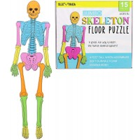 Blue Panda Foam Human Skeleton Puzzle Double Sided 4 Foot Tall 15