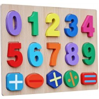 Timy Kids Numbers Wooden Learning Puzzle
