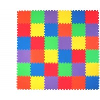 Nontoxic 36 Piece 38 Inch Children Play Exercise Mat Puzzle Play Mat Toddlers 6 Vibrant