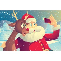 Santa Claus And Ruldolph Selfie 35 Piece Childrens Jigsaw Puzzle 12 X