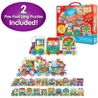 The Learning Journey Puzzle Doubles Giant Abc 123 Train Floor Puzzles Two Puzzles In