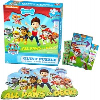 Paw Patrol Giant Floor Puzzle Set And Toddlers 3 Foot Puzzle 46 Pieces Bonus