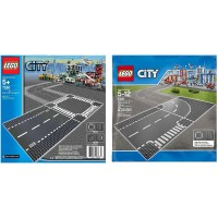 Lego City 7280 And 7281 Road Base Plates 4 In