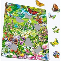 Larsen Butterflies Childrens Educational Jigsaw Puzzle 42 Piece Tray Frame Style Puzzle Exclusive
