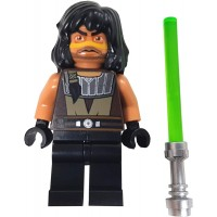 Lego Quinlan Vos W Green Lightsaber Star Wars